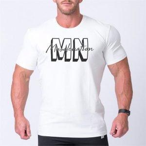 Mens Casual MNxSignature Tee - White - XXL