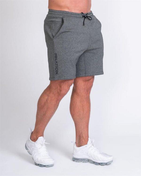 Mens Casual Shorts - Charcoal - XXL