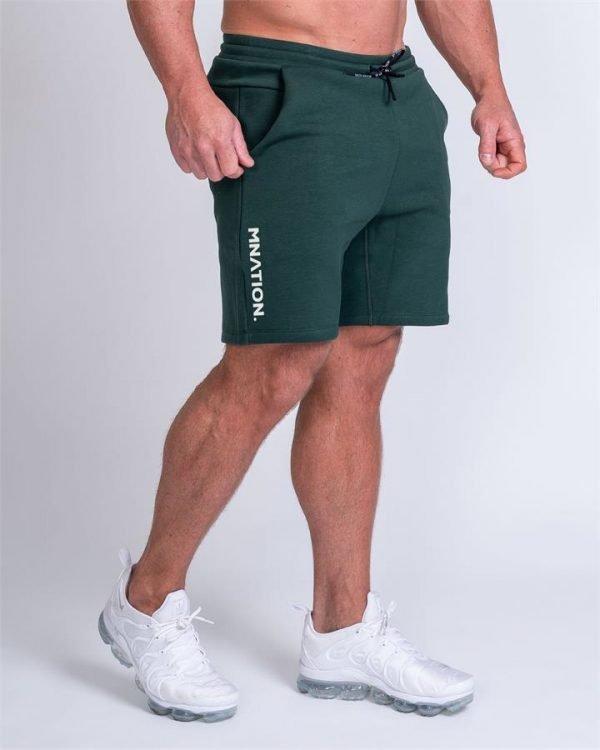 Mens Casual Shorts - Emerald Green - L