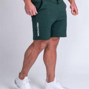 Mens Casual Shorts - Emerald Green - XL