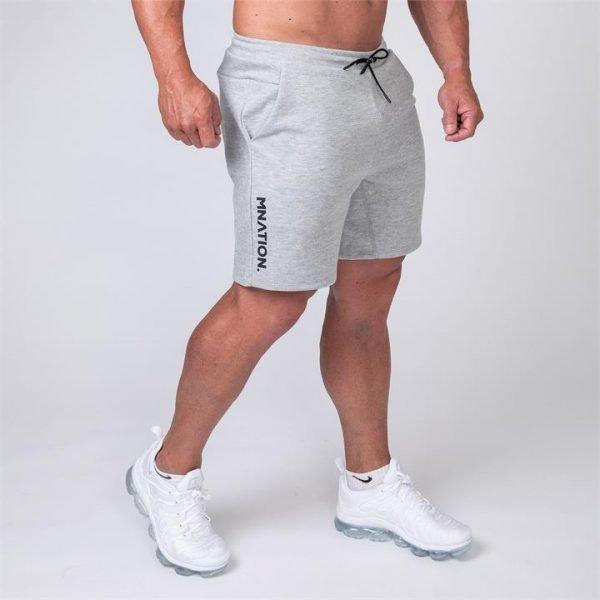 Mens Casual Shorts - Grey - XXL