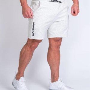 Mens Casual Shorts - White Marl - L