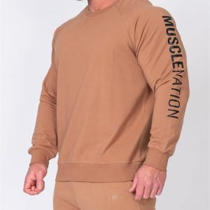 Mens Lightweight Long Sleeve - Latte - M