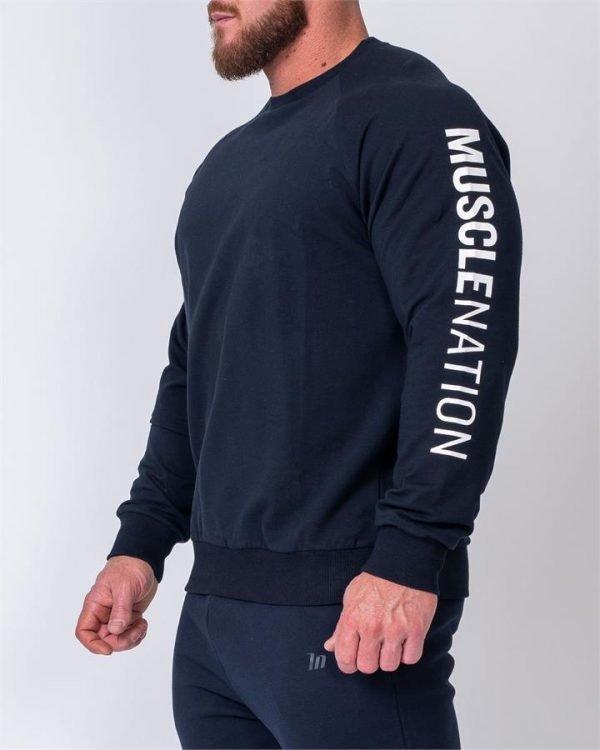 Mens Lightweight Long Sleeve - Navy - XXXL