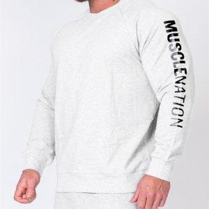 Mens Lightweight Long Sleeve - White Marl - XXL