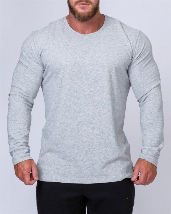 Mens Long Sleeve Tee - Grey - L