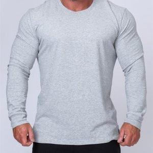 Mens Long Sleeve Tee - Grey - M