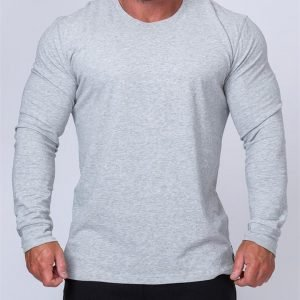Mens Long Sleeve Tee - Grey - S