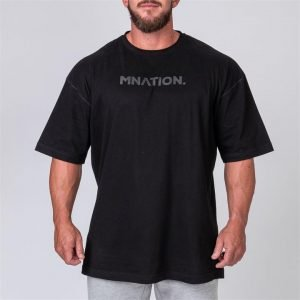 Mens Oversized Tee - Black - XXXL