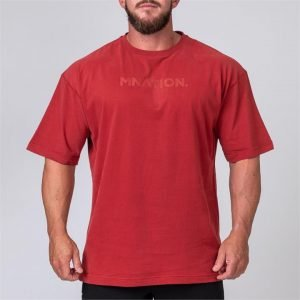 Mens Oversized Tee - Burgundy - XXXL