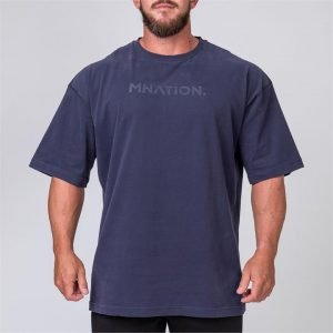 Mens Oversized Tee - Navy - L