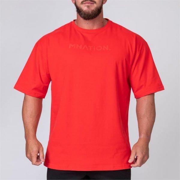 Mens Oversized Tee - Red - XXXL