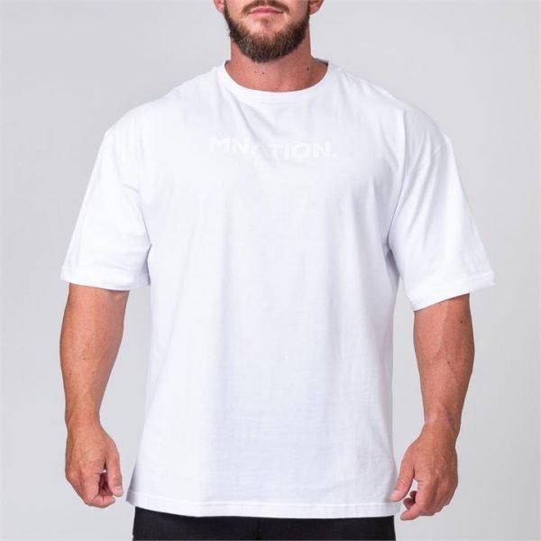 Mens Oversized Tee - White - S