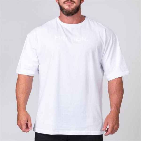 Mens Oversized Tee - White - XXL