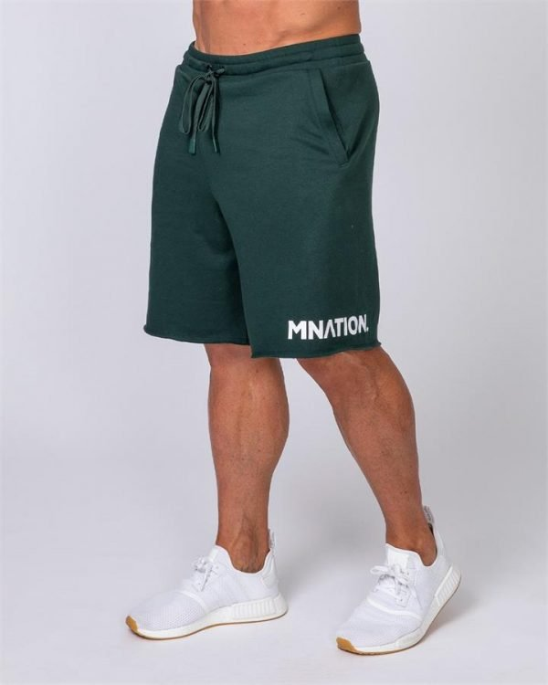 Mens Relaxed Shorts - Emerald Green - L