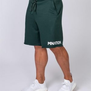 Mens Relaxed Shorts - Emerald Green - XXL