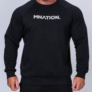 Mens Slouchy Pullover - Black - S