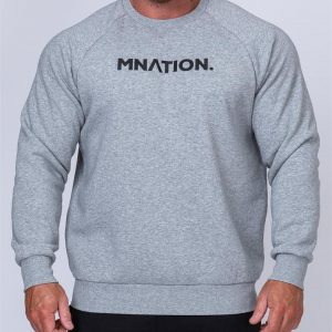 Mens Slouchy Pullover - Grey - S