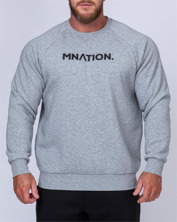 Mens Slouchy Pullover - Grey - XL