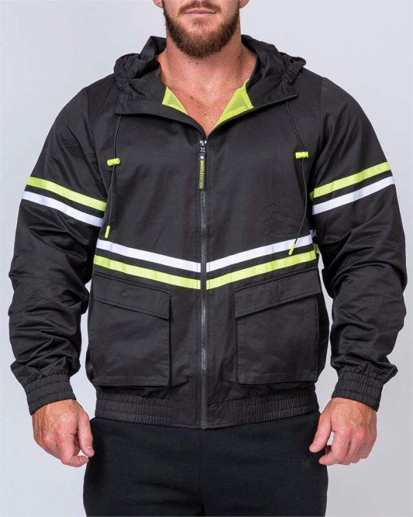 Mens Track Jacket - Black - L