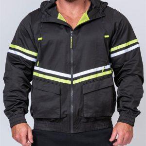 Mens Track Jacket - Black - M