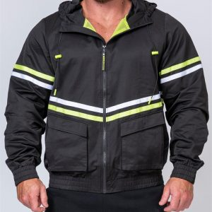 Mens Track Jacket - Black - XXL