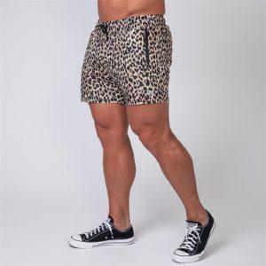 Mens Training Shorts - Leopard - XXL