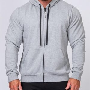 Mens Zip Up Hoodie - Grey - L