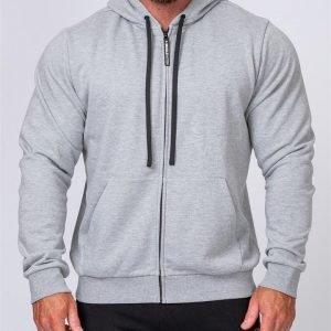 Mens Zip Up Hoodie - Grey - S