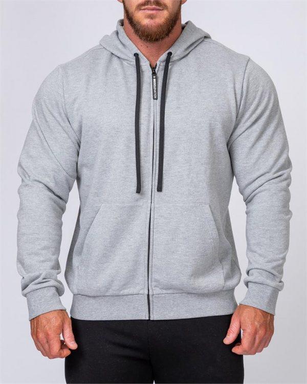 Mens Zip Up Hoodie - Grey - XXXL