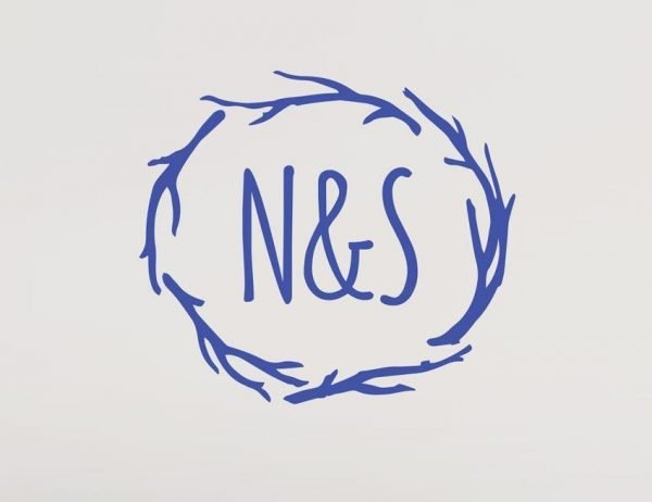 Monogram Branches Wall Letter Quote