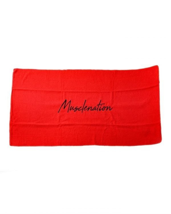 Muscle Nation Signature Gym Towel - Red