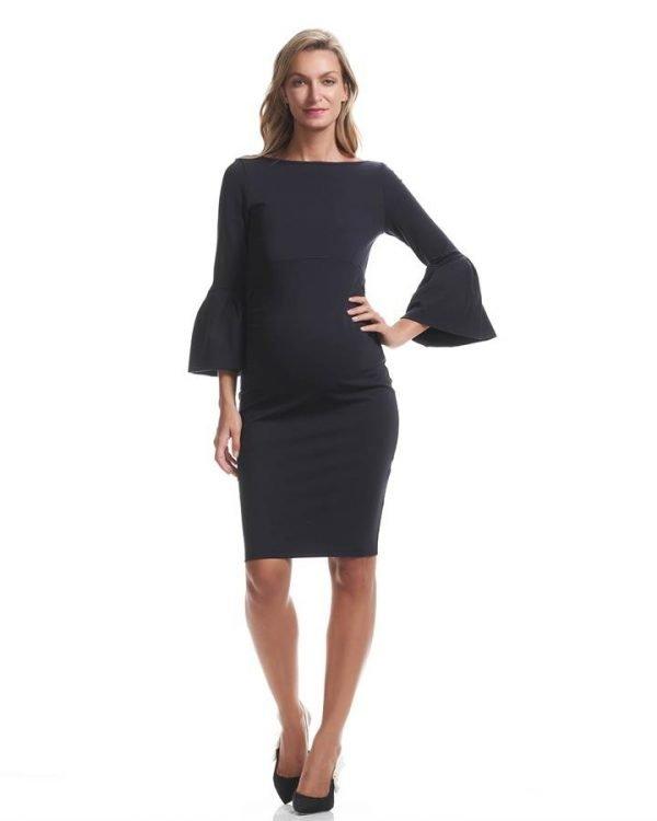 Myra Ruffle Sleeve Maternity Dress