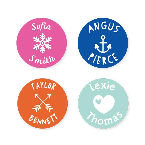 Name Labels - Classic Round