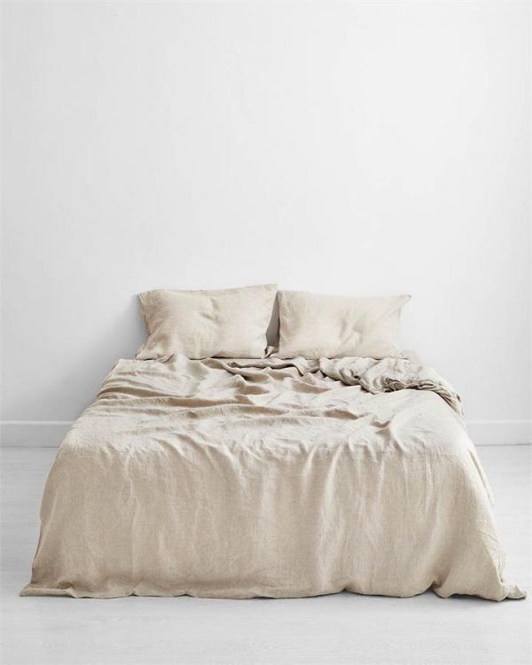 Oatmeal 100% Flax Linen Bedding Set - Bed Threads