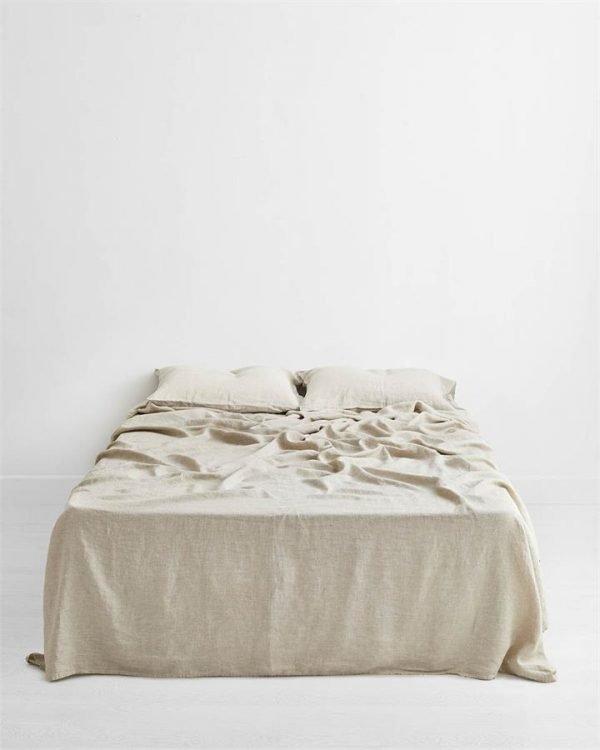 Oatmeal 100% Flax Linen Flat Sheet - Bed Threads