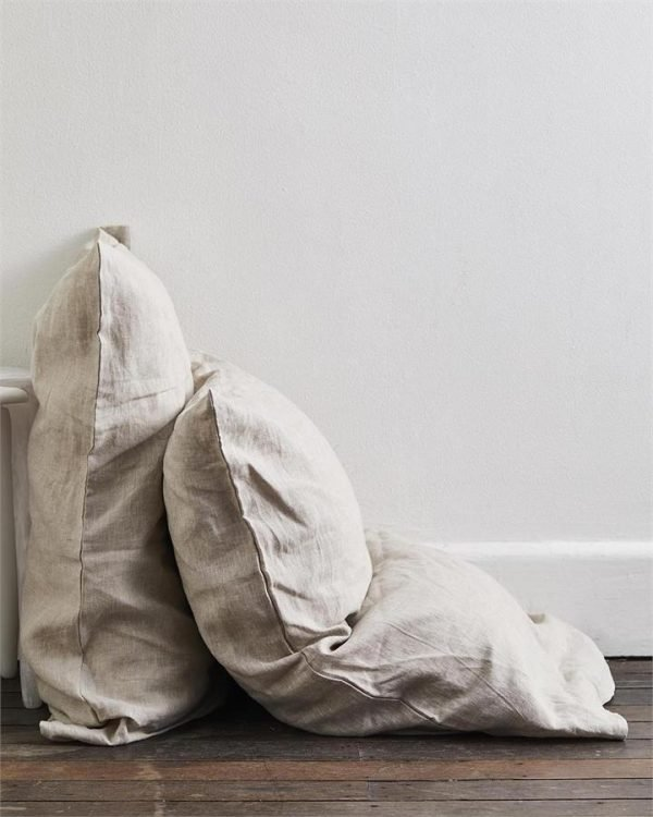 Oatmeal 100% Flax Linen Pillowcases (Set of Two) - Bed Threads