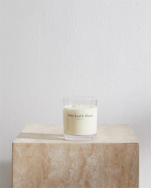 Olive Leaf & Thyme Candle by Bed Threads - Bed Threads
