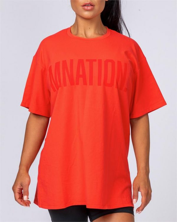 Oversized Tonal Tee - Infrared - XL