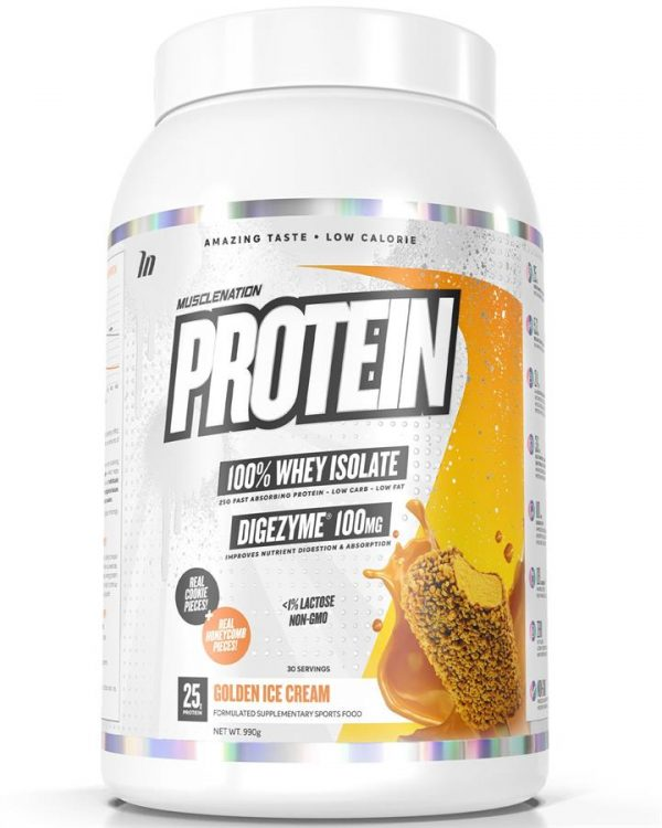 PROTEIN 100% Whey Isolate GOLDEN ICE CREAM (w/ real cookie & honeycomb pieces)