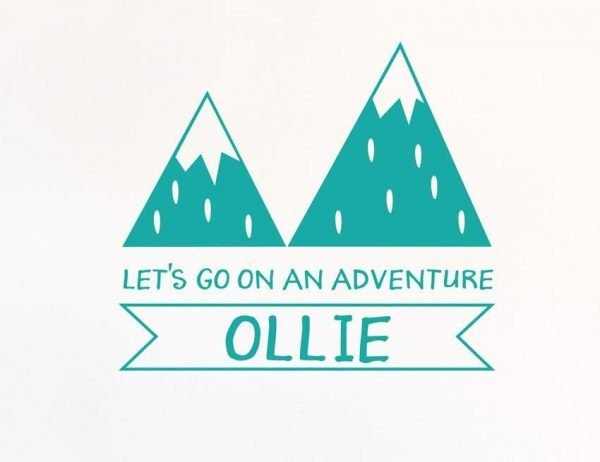 Personalised Adventure Wall Letter Quote