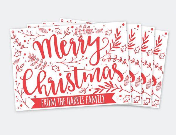 Personalised Christmas Cards Packs