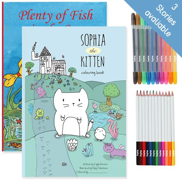 Personalised Story And Colouring Book With Colouring Kit