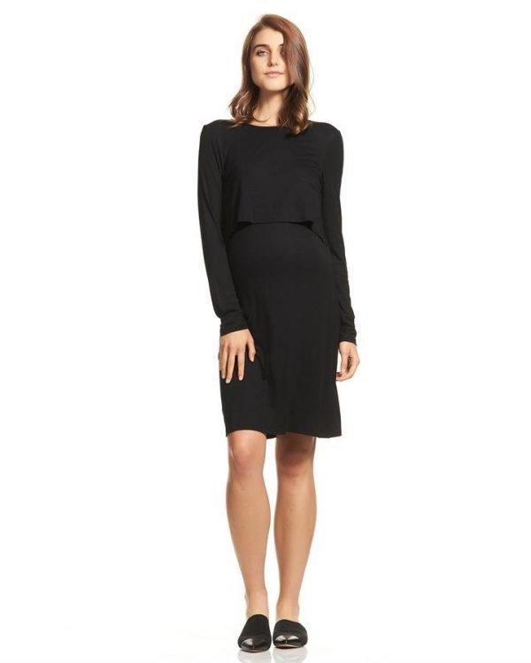 Petra Long Sleeve Maternity Dress
