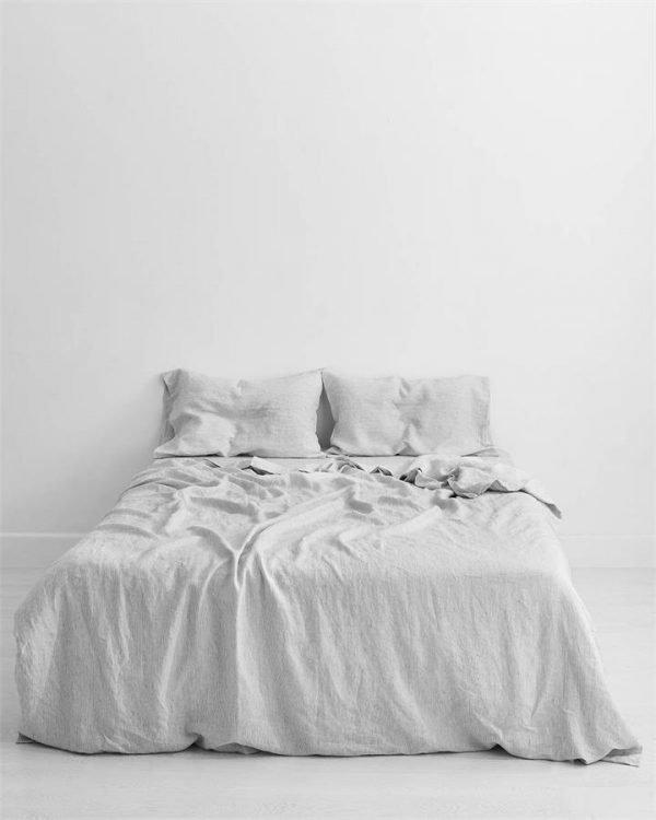 Pinstripe 100% Flax Linen Bedding Set - Bed Threads