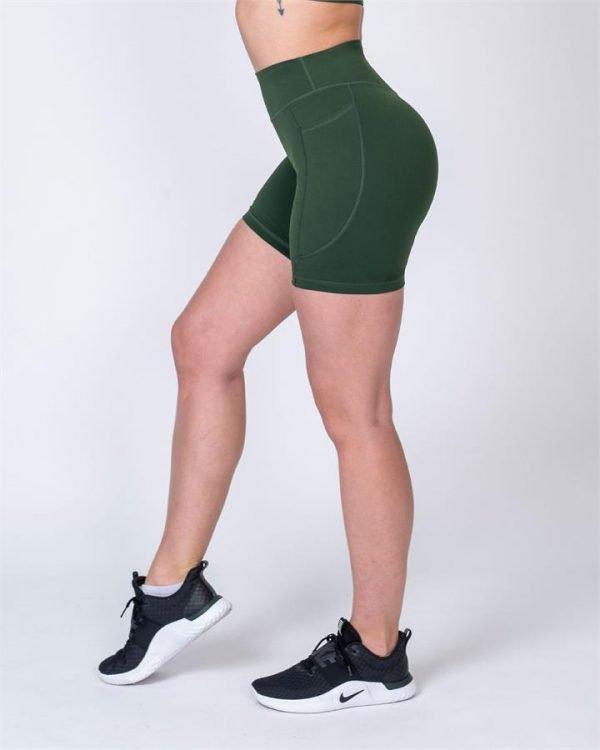 Pocket Bike Shorts - Moss - XS