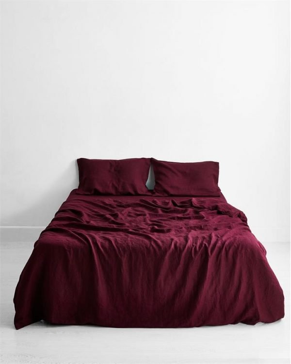 Ruby 100% Flax Linen Bedding Set - Bed Threads