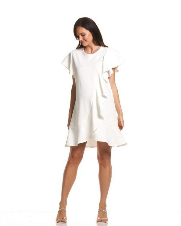Sarah Ruffle Maternity Dress