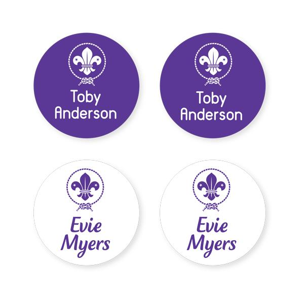 Scout Shoe Labels - Round