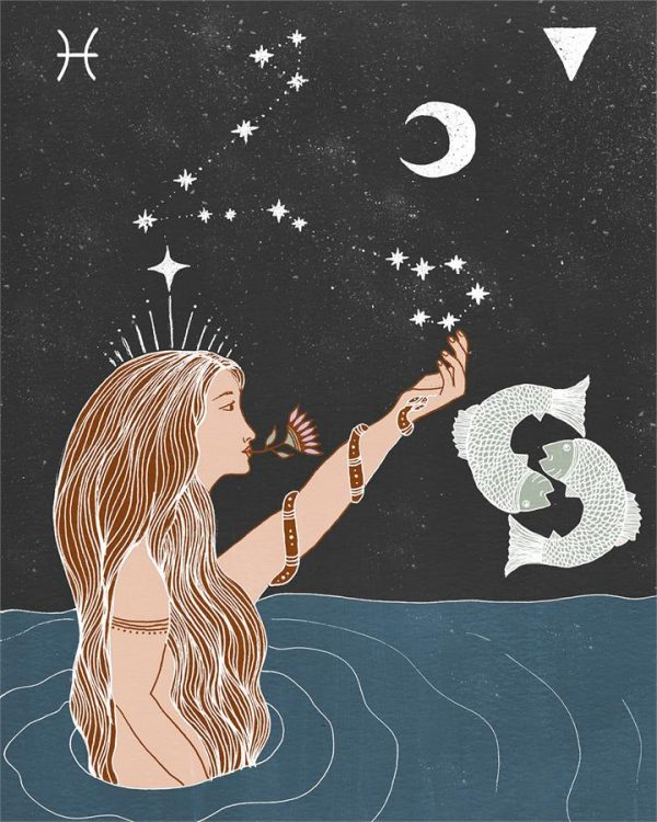 Seeds of Spells x Sisters Village 'Pisces' Print - Bed Threads